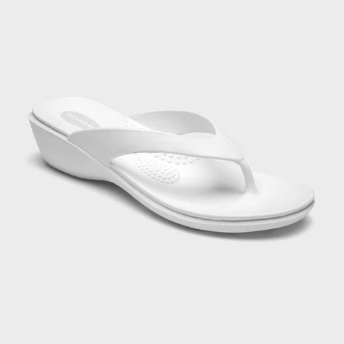 Women's Splash Sustainable Wedge Flip Flop Sandals - Okabashi - image 1 of 3