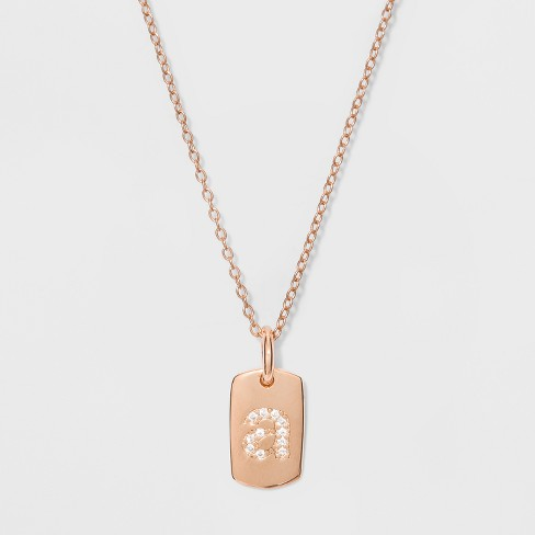 Initial Sterling Silver CZ Necklace - A New Day™ Rose Gold   Target 0943cf4a8
