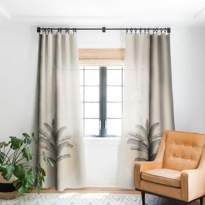 Iveta Abolina Sunrise Tan Single Panel Blackout Window Curtain - Deny Designs