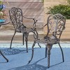 Viga 2pk Cast Aluminum Dining Chair - Shiny Copper - Christopher Knight Home - image 2 of 4