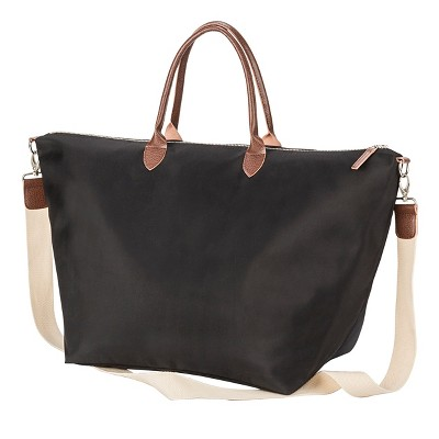 Cathy's Concepts Black Microfiber Weekender Tote by Cathy's Concepts