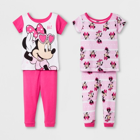 fffa846d19b2 Baby Girls  Minnie Mouse 4pc Pajama Set - Pink   Target