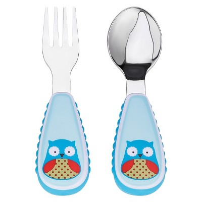Skip Hop Zoo Toddler Utensil Set - Owl