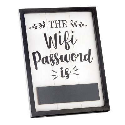 Lakeside Be Our Guest WiFi Password Sign for Visitors - Contemporary Home Accent