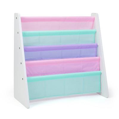 Holland Kids' Bookshelf 4 Tier Book Organizer White/Fresh Pastel - Humble Crew