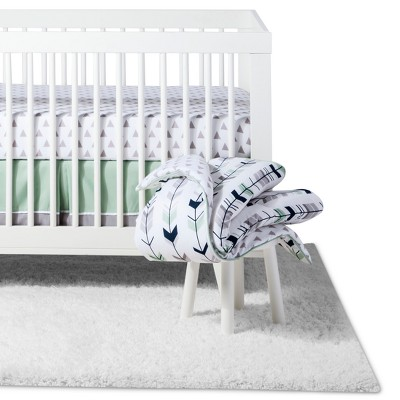 Sweet Jojo Designs Crib Bedding Set - Navy & Mint Mod Arrow - 11pc
