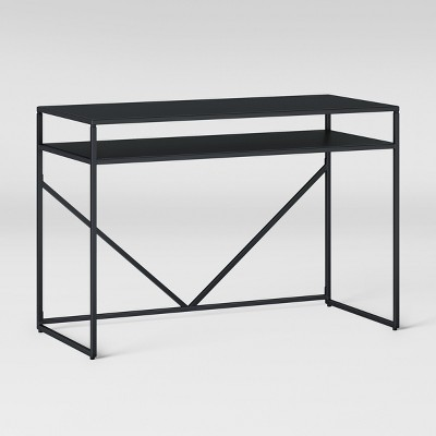 Glasgow Metal Writing Desk With Storage Black - Project 62™ : Target