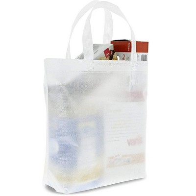 Juvale 20-Pack White Large Gift Bags, Tote Bags for DIY Crafts, Gifts, Grocery, Party Favors 14.8x12.5 in