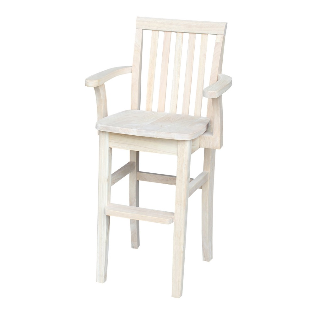Image of Mission Youth Dining Chair Unfinished - International Concepts, Brown