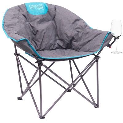 Creative Outdoor Bucket Moon Wine Chair - Teal Gray