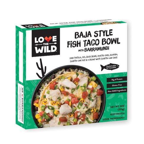 LoveTheWild Baja Style Frozen Fish Taco Bowl with Barramundi - 9oz - image 1 of 1