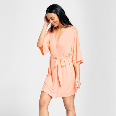 Women's Total Comfort Lace Robe - Gilligan & O'Malley™ Peach XS/S