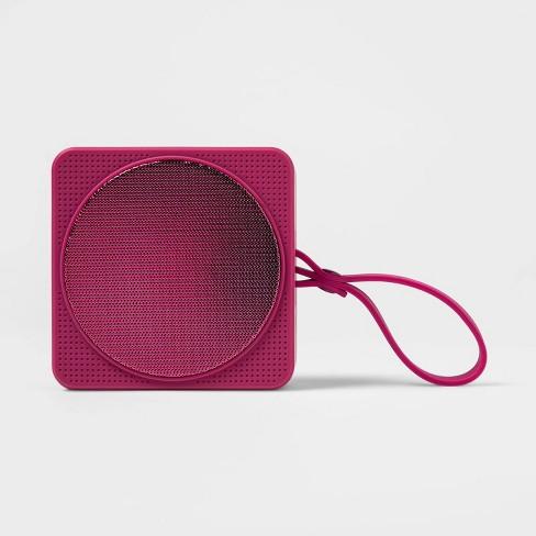 Heydey Wireless Speaker Bluetooth Portable Rechargeable Waterproof Pink NEW