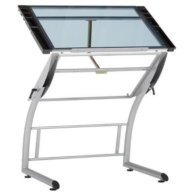 Triflex Drawing Table Soft Silver - Studio Designs