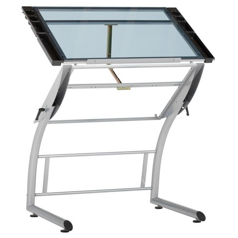 Triflex Drawing Table Soft Silver - Studio Designs - image 1 of 4