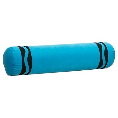 "Crayola Cerulean Crayon Bolster Throw Pillow - Blue (6""x24"") - image 1 of 1"