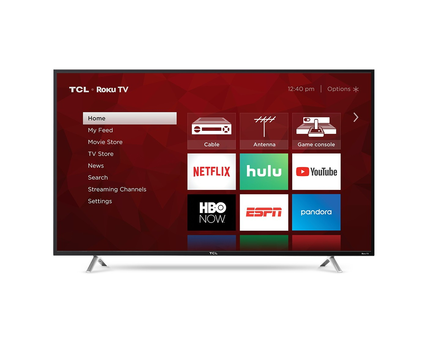 "TCL 55"" 4K HDR 120Hz CMI Roku Smart LED TV - Black (55S405) - image 2 of 14"
