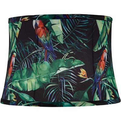 Springcrest Tarbu Tropical Leaf Drum Lamp Shade 13x15x10.5 (Spider)
