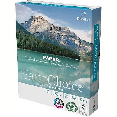 """Domtar Earthchoice 8.5"""" x 11"""" Multipurpose Paper 20 lbs. 674740"""