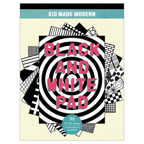 "Kid Made Modern Black and White Paper Pad, 12"" x 9"", 96 sheets - Patterned - image 1 of 1"