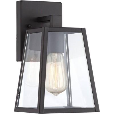"John Timberland Modern Outdoor Wall Light Fixture Mystic Black 10 3/4"" Clear Glass for Exterior House Porch Patio Deck"