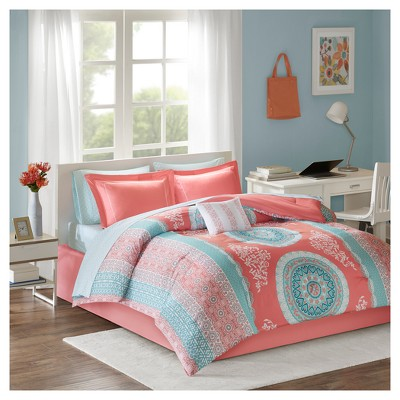 Coral Blaire Comforter and Sheet Set (Queen)