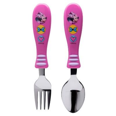 Mickey Mouse & Friends Minnie Mouse 2pk Silverware Set Pink - Zak Designs
