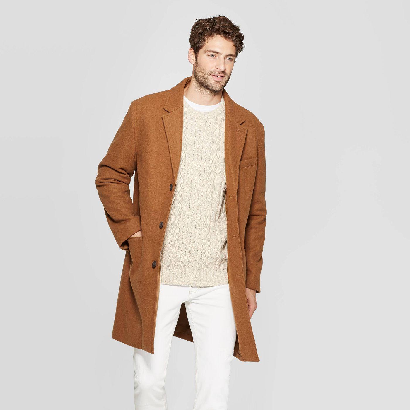 Goodfellow & Co Mens Wool Blend Overcoat