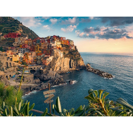 Ravensburger Cinque Terre Viewpoint Puzzle 1500pc, Adult Unisex image number null