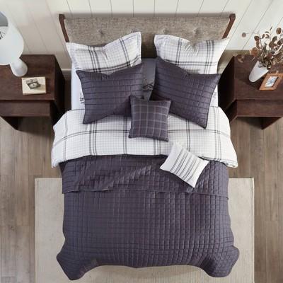 8pc Easton Printed Seersucker Comforter and Coverlet Set