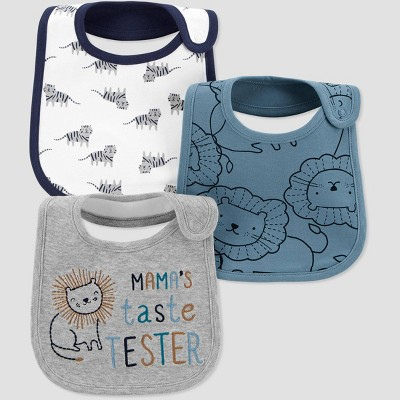 Baby Boys' 3pk Lion Bib - Just One You® made by carter's Turquoise