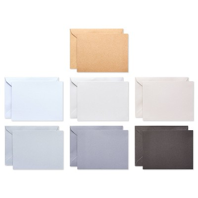 200ct Blank Cards with Envelopes, Neutral - Spritz™