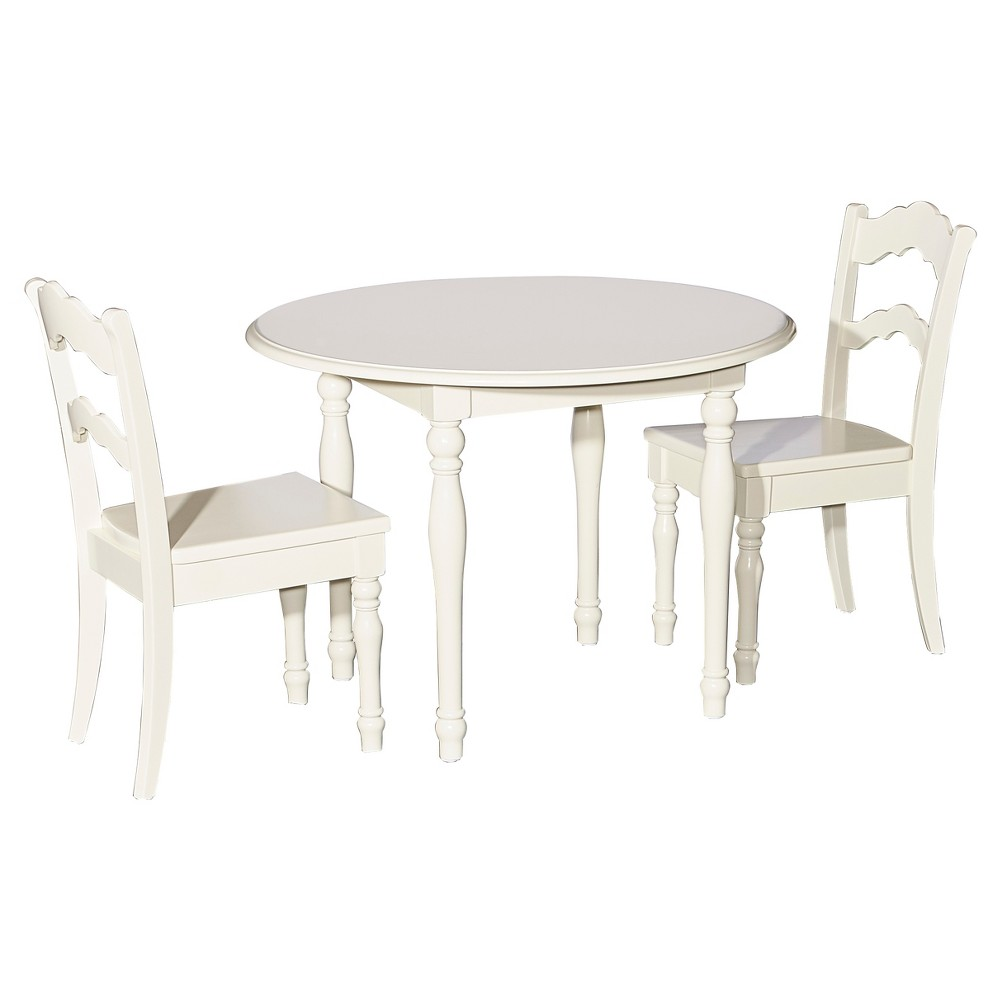 Image of 3pc Londyn Table and Chairs Set White - Powell Company