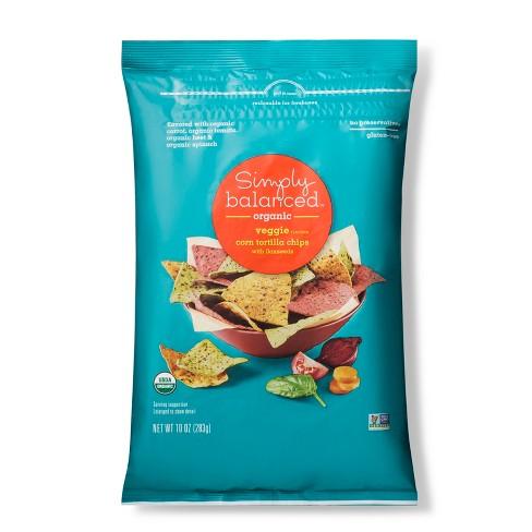 Organic Vegetable Tortilla Chips - 10oz - Simply Balanced™ - image 1 of 2
