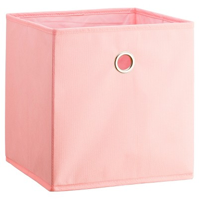 "11"" Fabric Cube Storage Bin Light Pink - Room Essentials™"