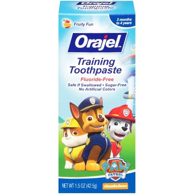Orajel ™ Fluoride Free Training Toothpaste for Toddlers - Tooty Fruity (1.5 oz)