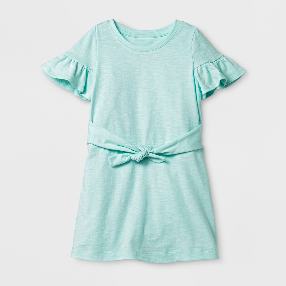 Toddler Girls' Shift Dress - Cat & Jack Bleached Aqua 12M