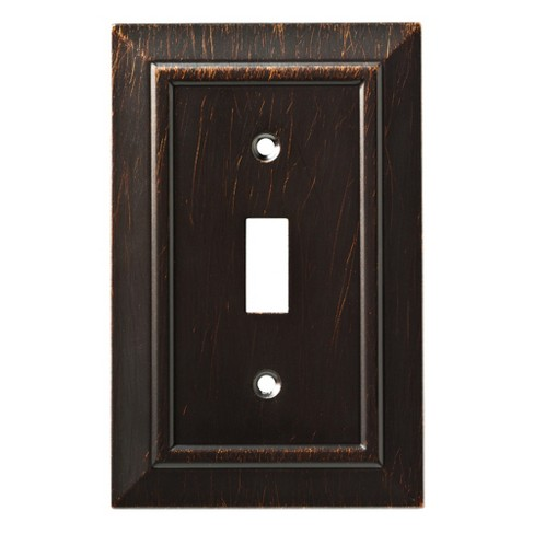 Franklin Brass Classic Architecture Single Switch Wall Plate Venetian Bronze - image 1 of 4