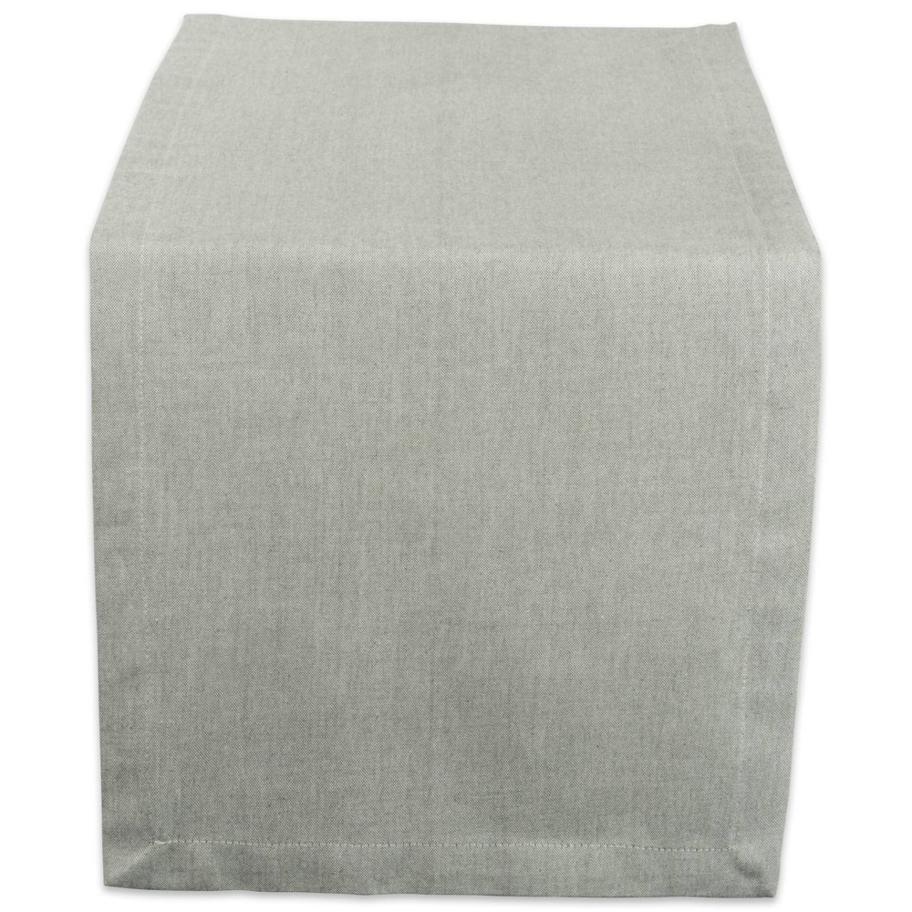 "Image of ""1008"""" x 14"""" Cotton Chambray Table Runner Green - Design Imports"""