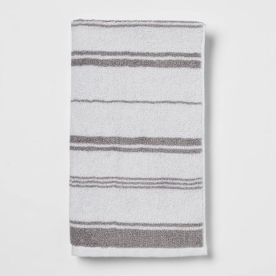 Performance Hand Towel Gray Stripe - Threshold™