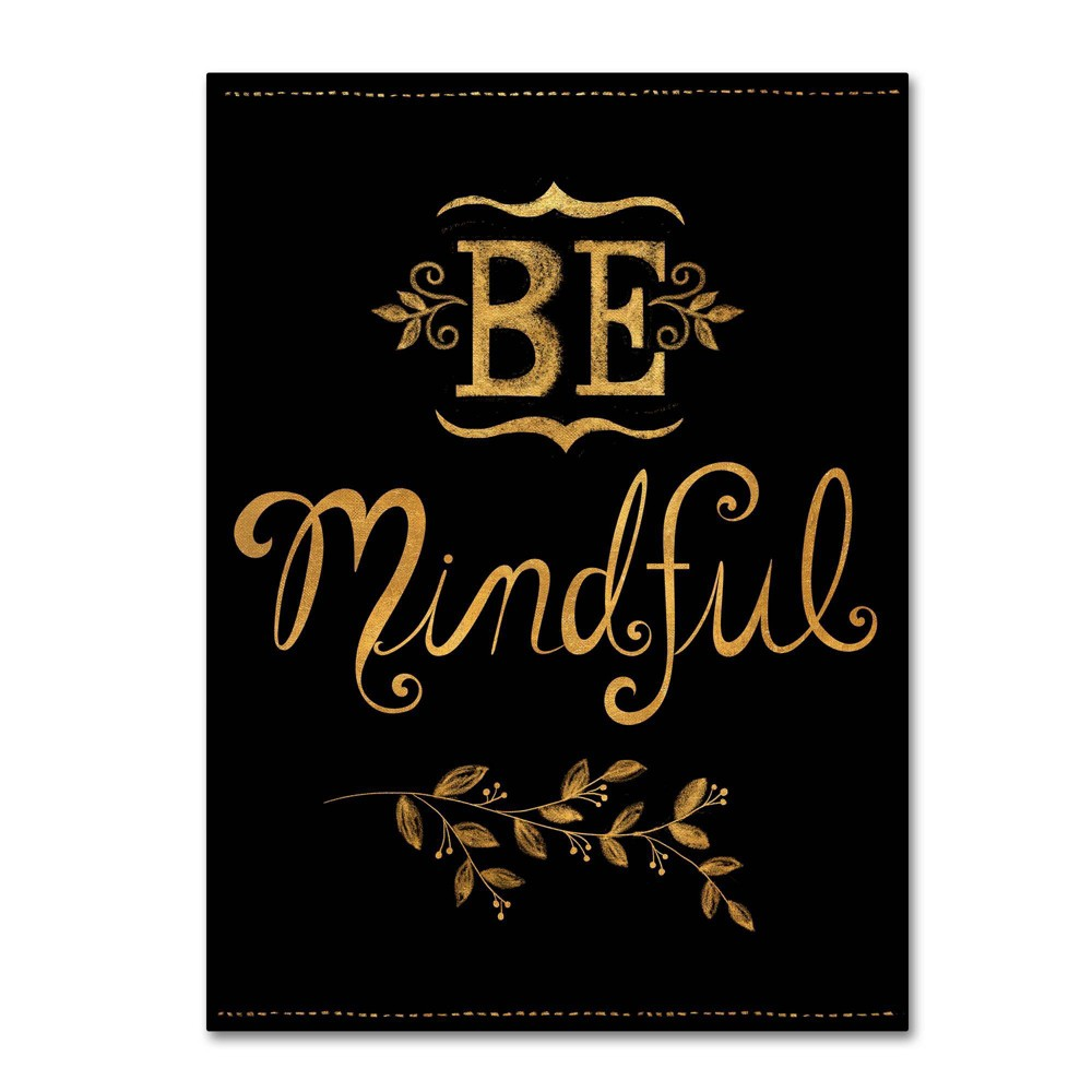 Best Discount Lisa Powell Braun Be Mindful Canvas Art 30x47 Trademark Fine Art Multicolored