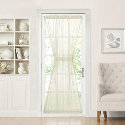 GoodGram Sheer Elegance Voile Door Panel, 60 By 72-inch, Beige - 52 in. W x 72 in. L