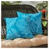 Set of 2 Sea Coral Outdoor Square Throw Pillows - Kensington Garden - image 2 of 3