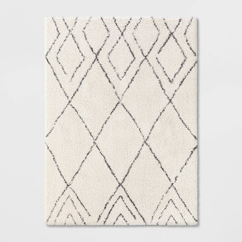 Diamond Patterned Shag Woven Rug - Project 62™ - image 1 of 3