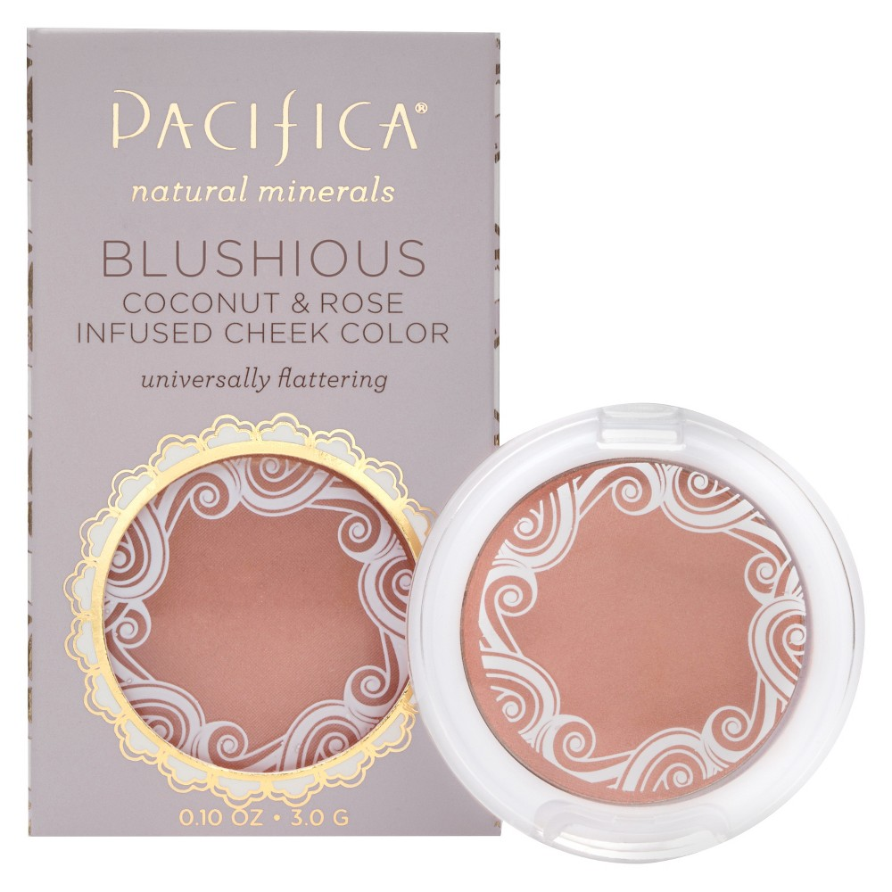 Pacifica Blushious Coconut & Rose Infused Cheek Color Camelia .10oz, Camellia