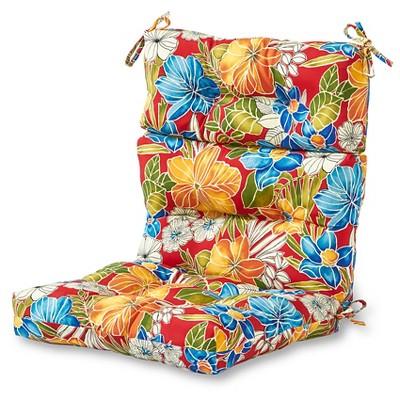 Outdoor High Back Chair Cushion Aloha Floral - Kensington Garden