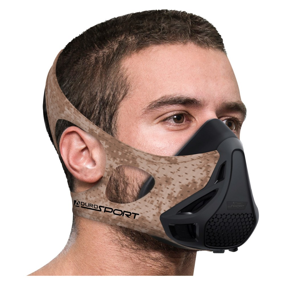 Image of Aduro Sport Peak Resistance Workout Training Mask - Desert Camo (Green)