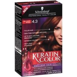 Schwarzkopf Keratin Color Anti-Age Hair Color - 2.03 fl oz - 4.3 Red Velvet Brown