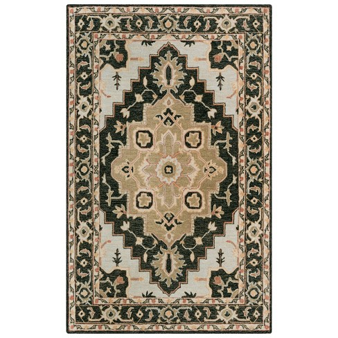 Conley Medallion Wool Area Rug - Rizzy Home - image 1 of 4