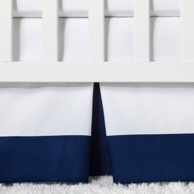 Crib Skirt Pleated - Cloud Island™ Navy
